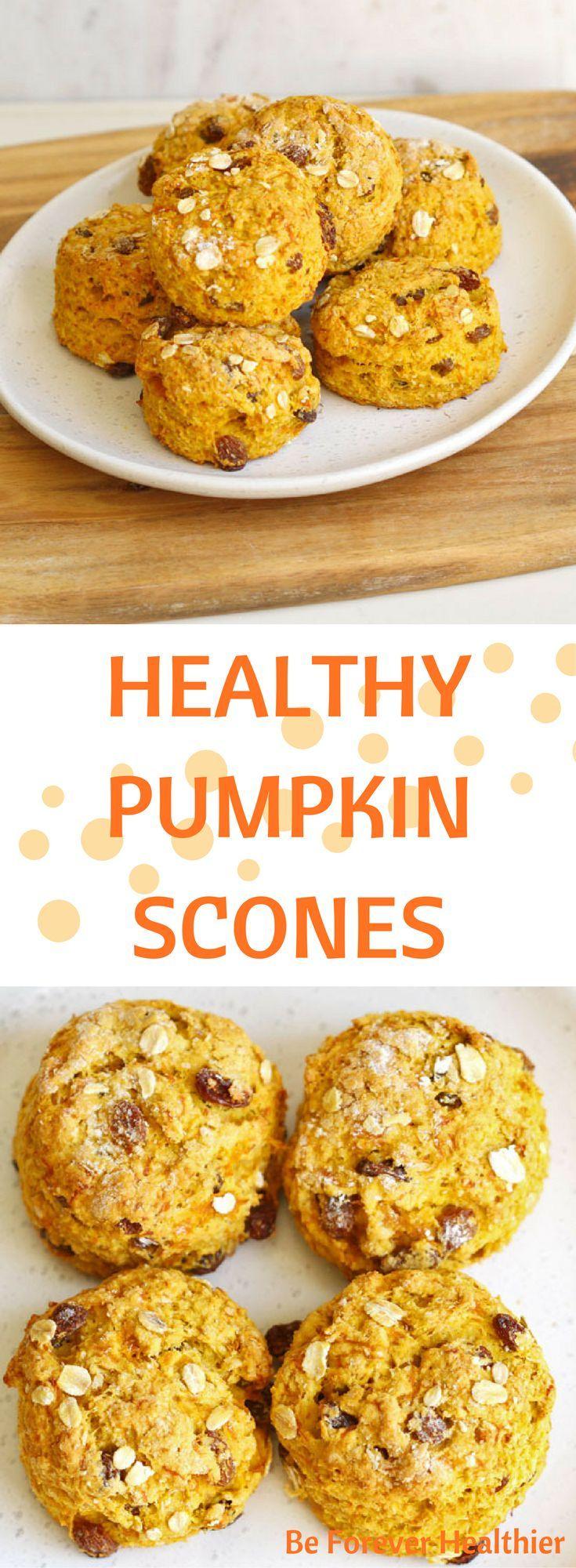 Healthy Pumpkin Scones #scones #healthy #recipe #pumpkinscones