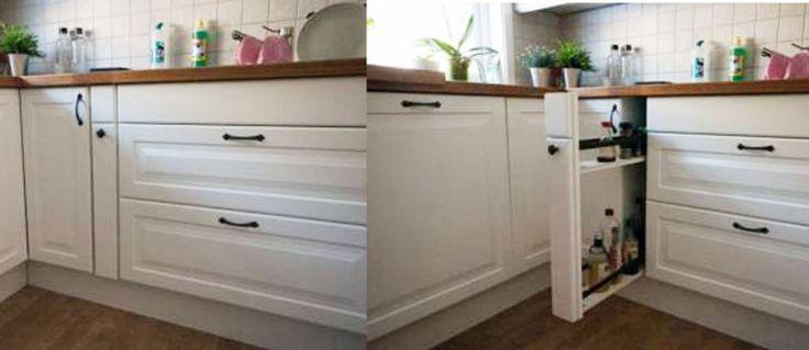 SELVLAGET KJØKKENSKAP: Ikea kunne ikke levere det Petter ville ha. Da laget han det selv. (Foto: Petter Nessimo)