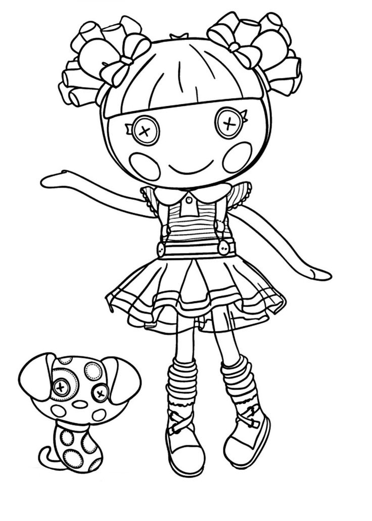 lalaloopsy coloring - Lalaloopsy Coloring Pages
