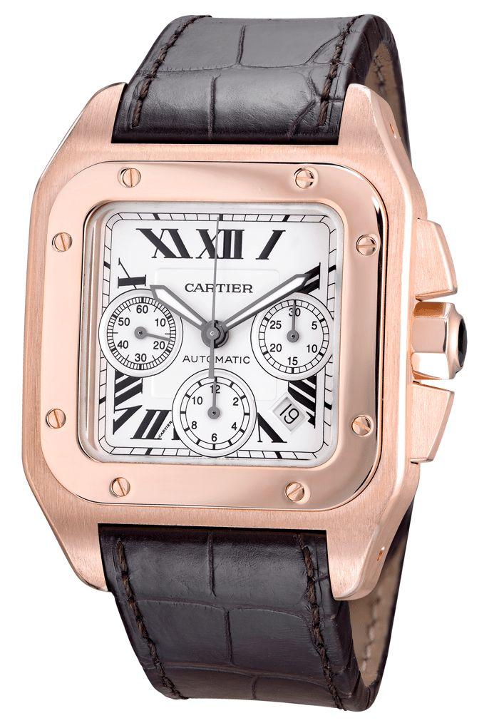 Cartier Santos 100 XL Chronograph Rosegold buy in Moscow, Kutuzovskiy prospect , 23
