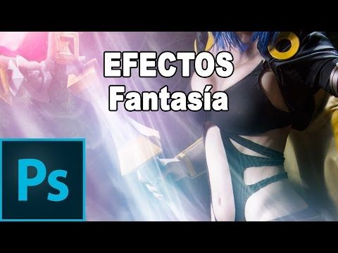 Retoque de fantasía (3/4): Efectos con pinceles - Tutorial Photoshop en Español - YouTube