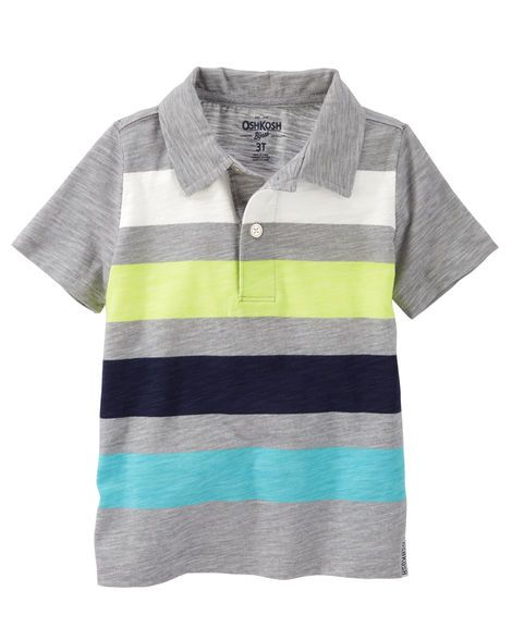 Kid Boy Striped Jersey Polo from OshKosh B'gosh. Shop clothing & accessories from a trusted name in kids, toddlers, and baby clothes.