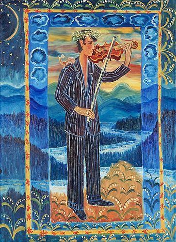 "Mårten Andersson Born 1934 ""Spelmannen"" (The Musician)."