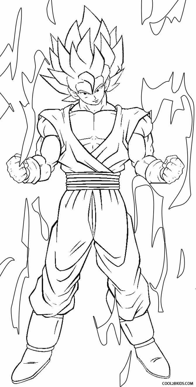 Printable goku coloring pages for kids cool2bkids for Dbz coloring pages online