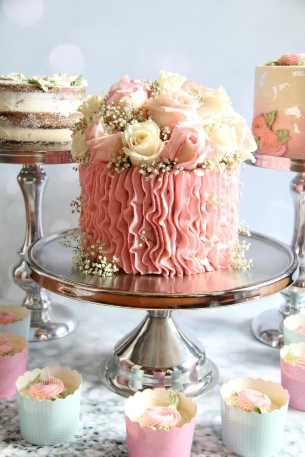 """6"""" Cake Trio!!  by Cake! By Jennifer Riley  - http://cakesdecor.com/cakes/262263-6-cake-trio"""