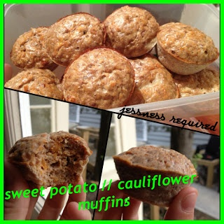 sweet potato cauliflower muffins