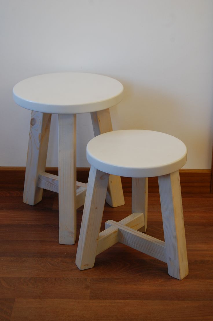 White milking stools ..... a fab addition to any home.