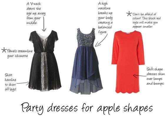 Best formal dress style for apple shape