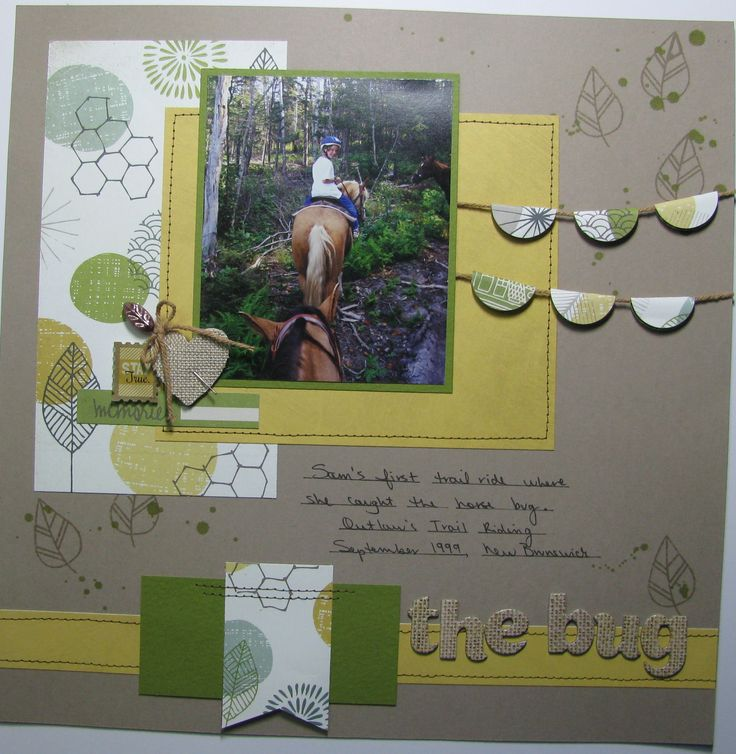 Scrapbook layout, My Creative Sketches, Crop & Create Delivered Fall 2014 Kit