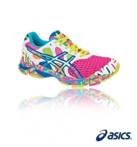 discount ASICS® women's running shoe -- super colorful! for ladies