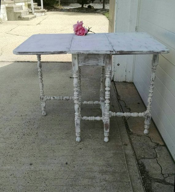 RESERVED Vintage Gate Leg Table,Vintage Drop Down Table,Folding Table,Farmhouse  Table Cottage Table,Shabby Table