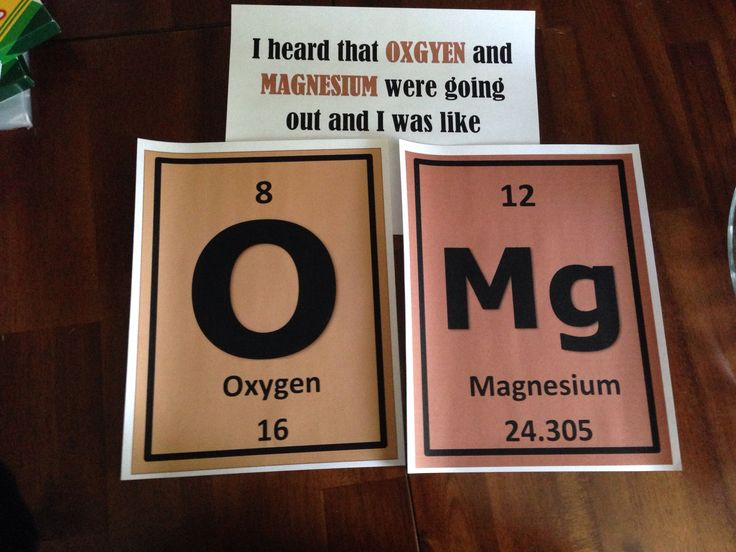 Periodic table humor for classroom