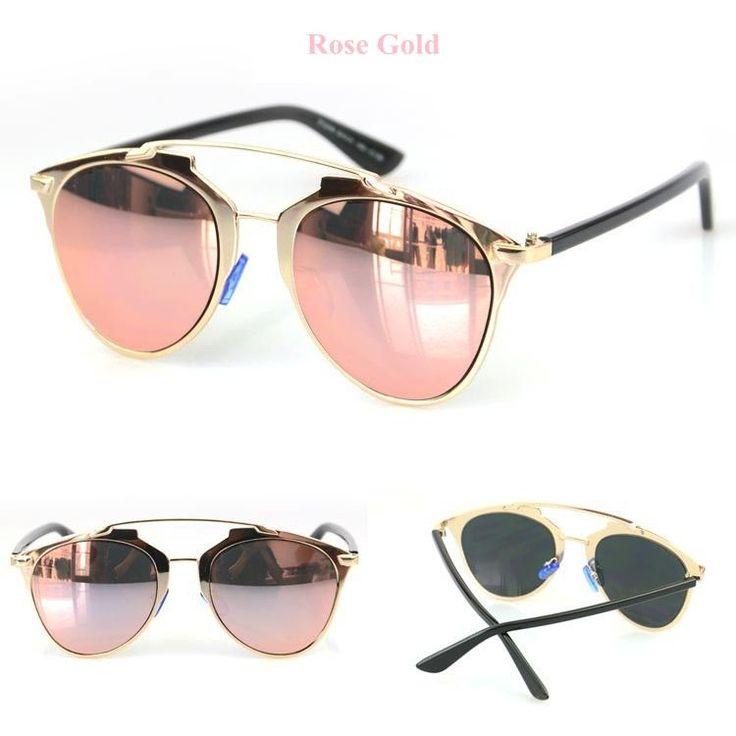 Rose Gold Retro Alloy Cat Eye Sunglasses