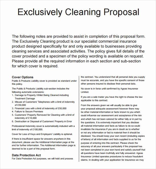 25 Cleaning Service Proposal Template In 2020 Proposal