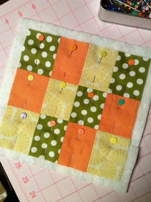 """Mug Rug Tutorial - multi step, go to """"tutorials"""" at top of pg for all steps."""