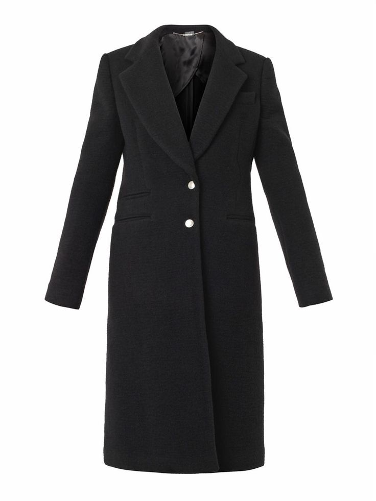 Single-breasted wool-blend coat | Alexander McQueen | MATCHESF...