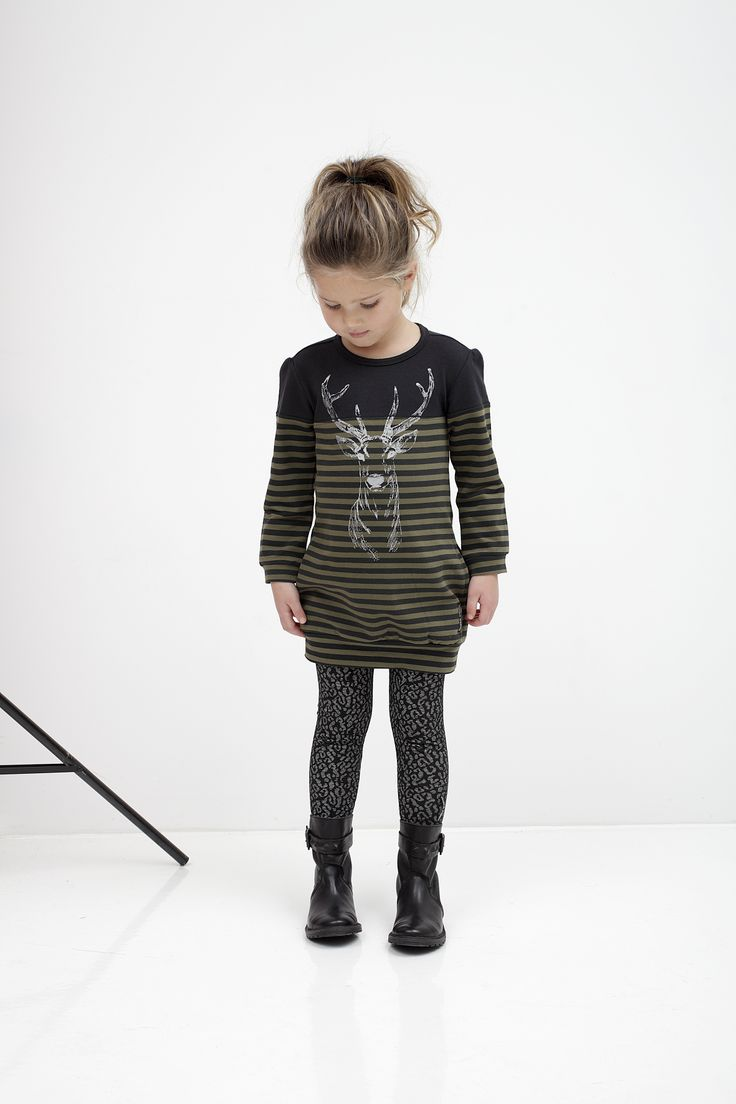 Tumble N Dry Winter Tuniek met hert afbeelding. Trendy en Warm. www.kienk.nl #TumbleNDry #tuniek #meisjeskleding #kindermode.