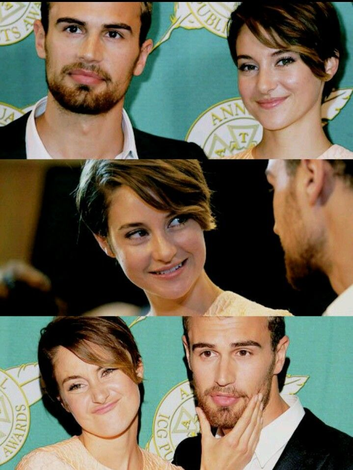 Shailene and Theo - Tris and Four. Divergent!