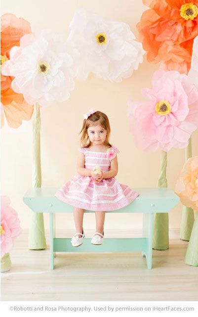 Easter Photo Session Ideas - Children's Portrait Session by Robotti and Rosa Photography - Featured on I Heart Faces