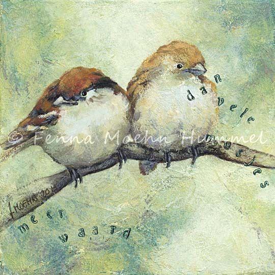 Atelier for Hope Doetinchem Bijbels schilderij De musjes, nav Mattheus 1, uitspraak van Jezus Christus. Fenna Moehn Hummel