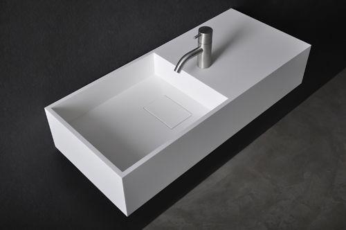 Solid Surface Design Wastafel Burros Afmeting: B 75 x D 32.5 x H 15 cm