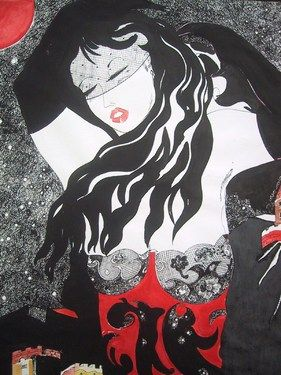 "Saatchi Art Artist Roberto Corso; Drawing, ""Lorena '70"" #art"