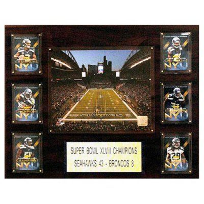 C and I Collectables NFL 20W x 16H in. Seattle Seahawks Super Bowl XLVIII CenturyLink Field Plaque - 1215MARIOTAST