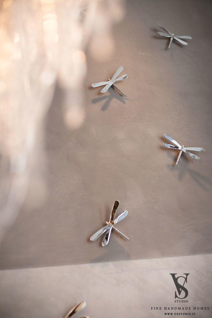 VS Studio - Fine handmade homes #interior design #interior scenography #metal #dragonflies #wall #mood #customdesign