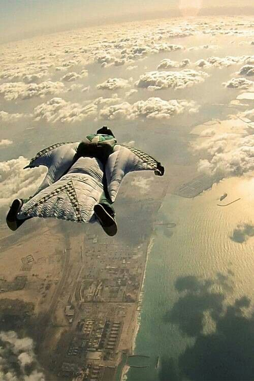 Wingsuit = balls of steel