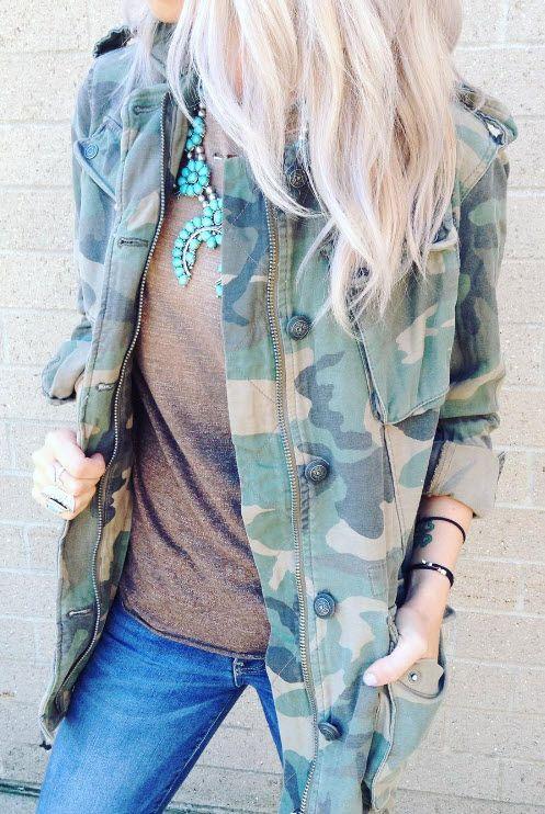 A camo jacket that will take you from season to season.