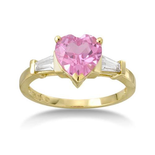 Pink diamond heart shaped ring Google Search Bling Pinterest