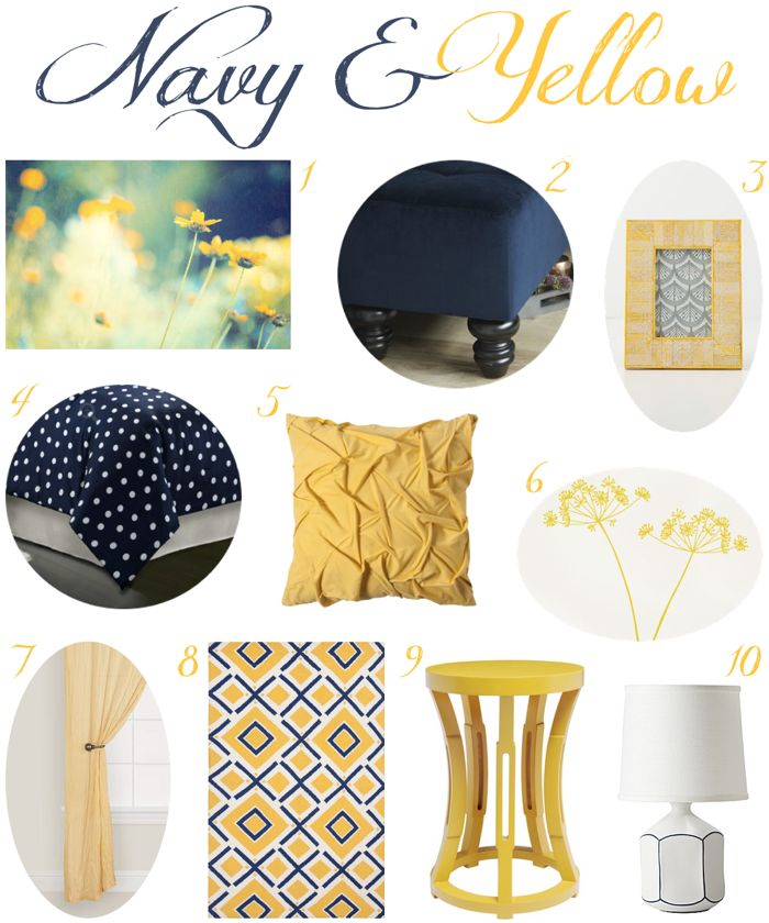 navy and yellow bedroom decor love this color combination too rh pinterest com