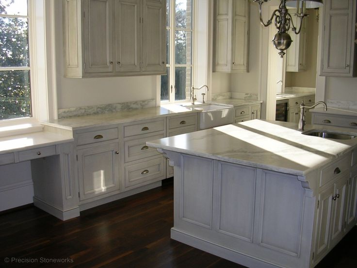 Chic Atlanta Granite Kitchen Countertops In White Made Of The Granite Marble  And Fram Sink Detail, Modern White Granite Countertop Kitchens Offering  Stylish ...