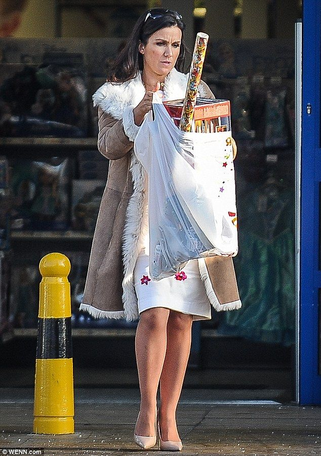 Gifted: Susanna Reid was spotted shopping at a south London branch of Toys R Us last week...