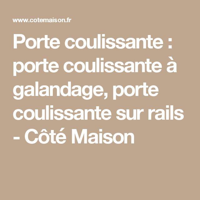 25 best ideas about porte coulissante galandage on - Porte coulissante galandage lapeyre ...