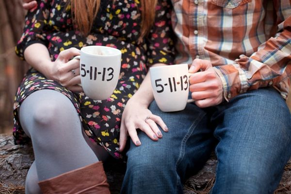 sharpie save the date mugs