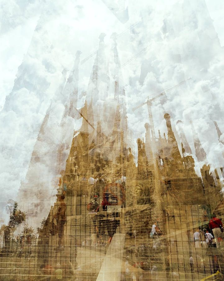 Photographer Doug Keyes does a series of double exposures of cities around the world
