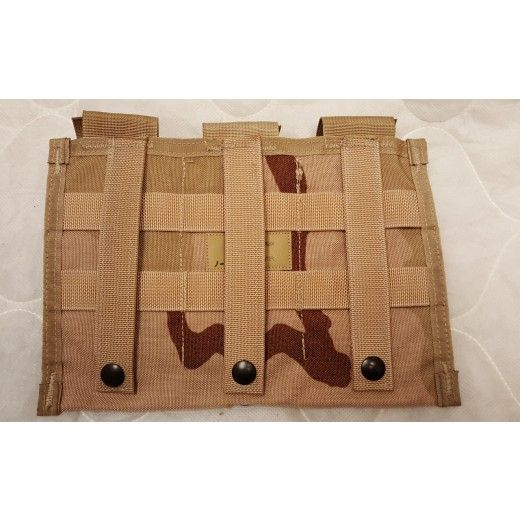 Military Issue MOLLE 3 Triple MAG M4 30 Round Pouch 3 Color Desert - Military Gun Related Items - Genuine Surplus