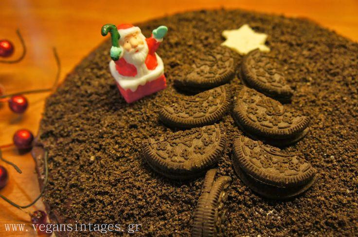 !Βίγκαν Συνταγές!: Κέικ σοκολάτα με τριμμένα μπισκότα
