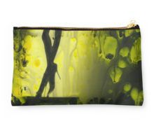Yellow water color painted silver gelatin black and white print  of legs of female dancer analog film photo Studio Pouch