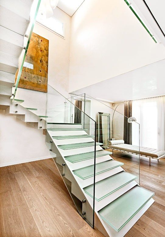 #glass Open #staircase VISTA PROJECT By OFFICINE SANDRINI #interiors