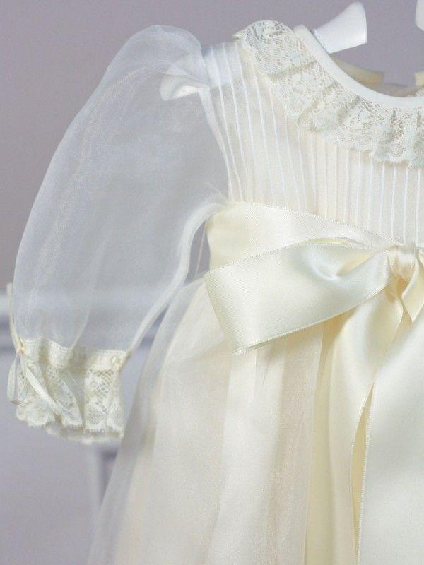 Faldón manga larga con capota crudo manga larga 2883 Belan / Long sleeve Buy Christening baby Gown with bonnet Belan Shop online/ tienda online: www.lesbebes.es