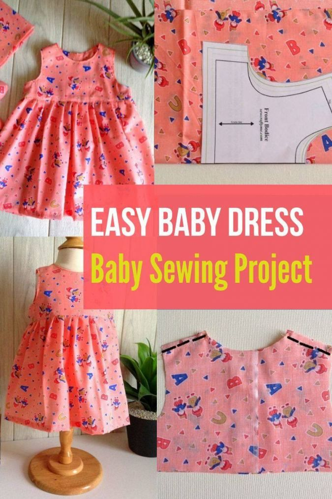 Baby Frock Sewing Tutorials : frock, sewing, tutorials, Dress, Sewing, Pattern, Girls, Patterns,, Clothes, Frock