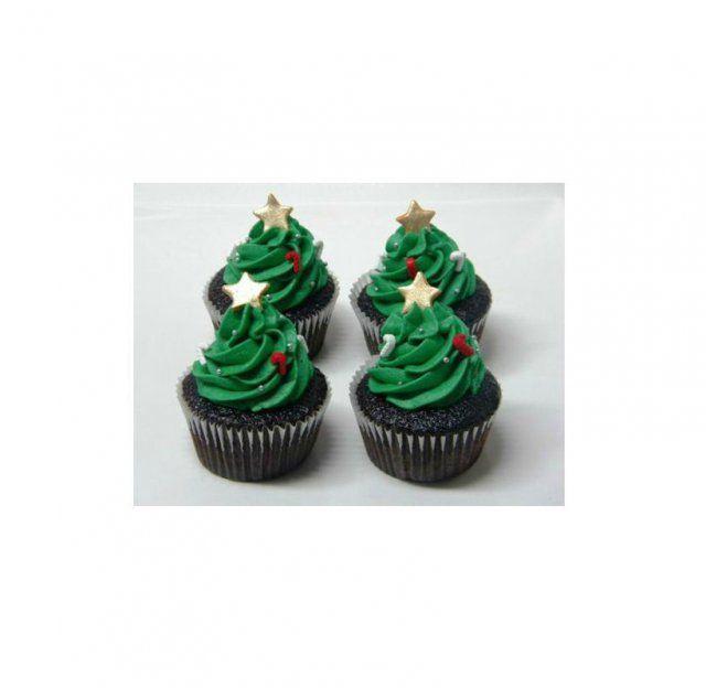 Des cupcakes sapins