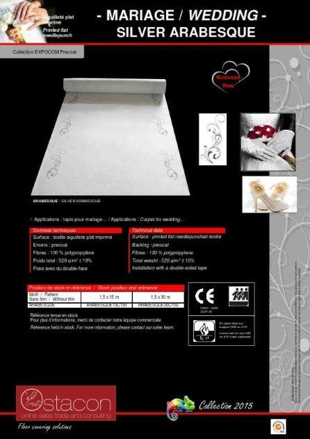 Eventboden - Prospekt zum weißen Hochzeitsteppich mit silbernen Arabesquen