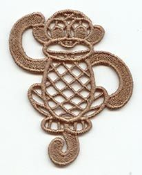 Embroidery Library-Retro Monkey (Lace)
