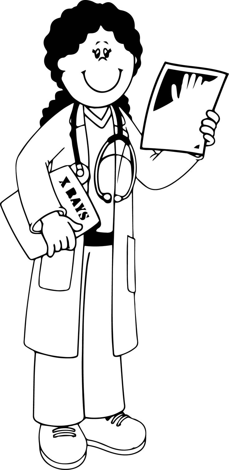 Community helper x ray doctor coloring page abc coloring