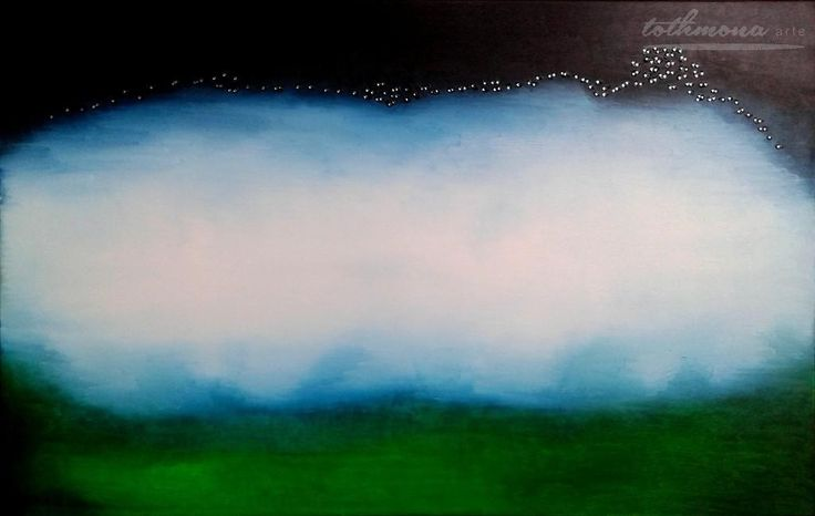 The power of the universe / oil, canvas, Swarovski strass replica, 110x70cm, 183€