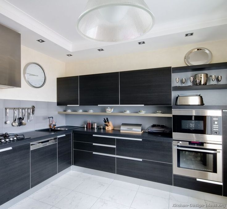 #Kitchen Idea Of The Day: Modern Black Kitchens.