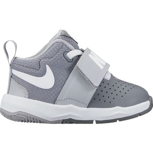 Nike Toddler Boys' Team Hustle D 8 Basketball Shoes (Cool Grey/Wolf Grey/White, Size 7) - Toddler Shoes at Academy Sports